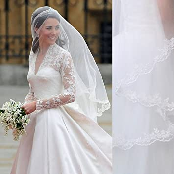 Amazon Com Royal Kate Middleton Inspired Wedding Veil Mihi Plus