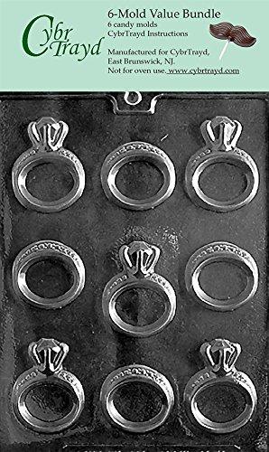 CybrTrayd W051-6BUNDLE Engagement/Wedding Ring Chocolate ...