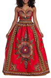 Generic Women Fashion Africa Printing Wrap Chest Dashiki Sleeveless Long Dress As picture S