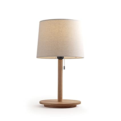 Pull Line Bedside Table Lamps Modern Led Desk Lamp Wood Art Small