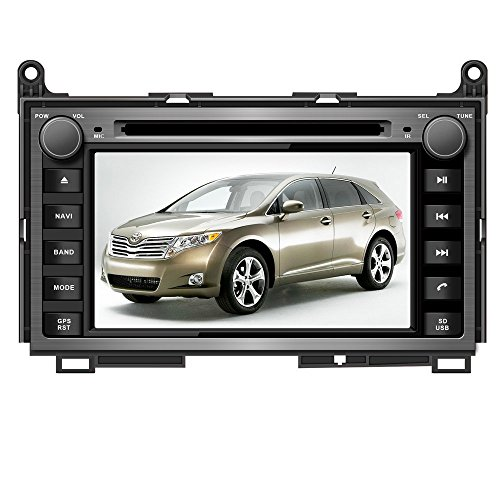 7 Inch Touchscreen Monitor Car GPS Navigation System for TOYOTA Venza 2008 2009 2010 2011 2012 Car Stereo DVD Player+Free Backup Rear View Camera+Free US Map