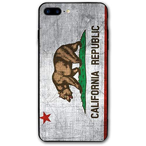 iPhone 7 Plus/iPhone 8 Plus Case California Republic Flag Funny Mobile Phone Shell Soft Rubber Cover for 5.5 Inch