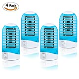 TedGem Bug Zapper, Mosquito Killer Lamp Bug Zapper Electronic Insect Killer Indoor - Eliminates Most Flying Pests with Night Lamp - 4 Pcs (4 pcs)