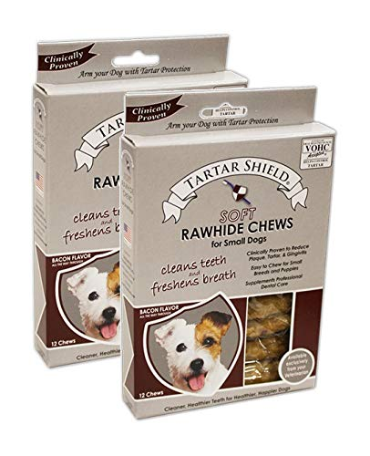Tartar Shield 192959803631 Soft Rawhide Chews, Small (12 Count) (Pack of 2) by Tartar Shield