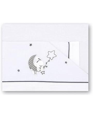 Pirulos - Juego de sábanas para Bebe Luna Gris - Minicuna 50x80 cm