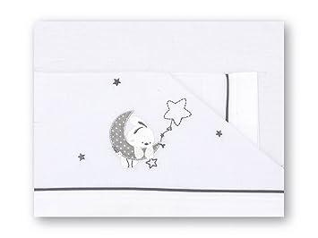 Pirulos Luna Juego de Sábanas 100% Algodón para Cochecito de 40x80 cm para Invierno y Verano, Color Gris: Amazon.es: Bebé