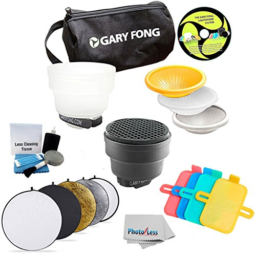 Gary Fong Fashion and Commercial Lighting Flash Modifying Kit With Neewer 110CM 43-Inch 5-in-1 Collapsible Multi-Disc Light Reflector, Silver, Gold,White, Black, & Translucent in Case For Nikon Flash SB-700 SB-900 SB 910 SB-400 SB-300 SB-600 SB-800 + Clea by Gary Fong