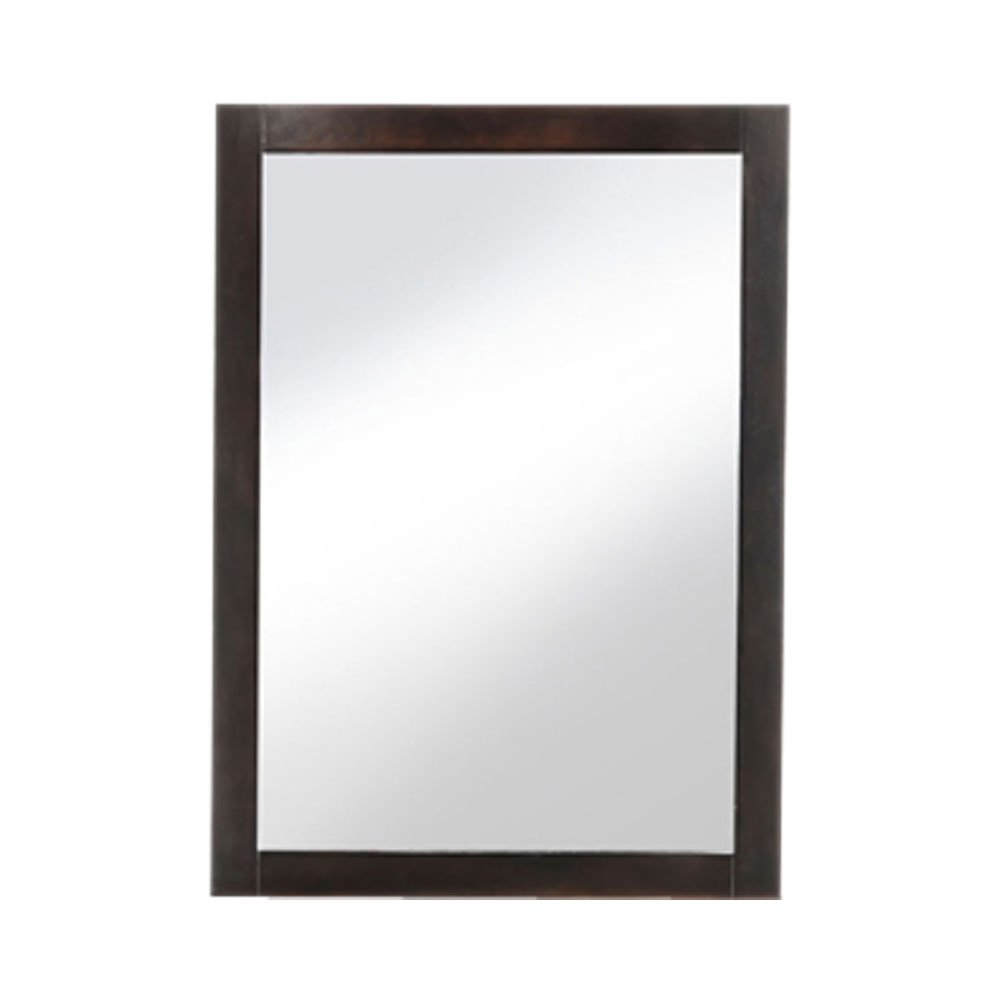 Night and Day Furniture Zest Mirror in Chocolate Finish