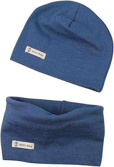 LACOFIA Conjunto de Sombrero y Bufanda de Cuello para bebé ninos y Ninas Gorro de algodón Recien Nacido Sombreros de Punto y pañuelos de Cuello Infantiles: Amazon.es: Ropa y accesorios