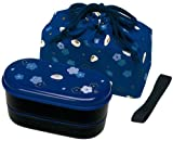 Best Picnic Plus Lunch Boxes - Skater KSX2-Blue3680 Japanese 2-Tier Bento Lunch Box Review