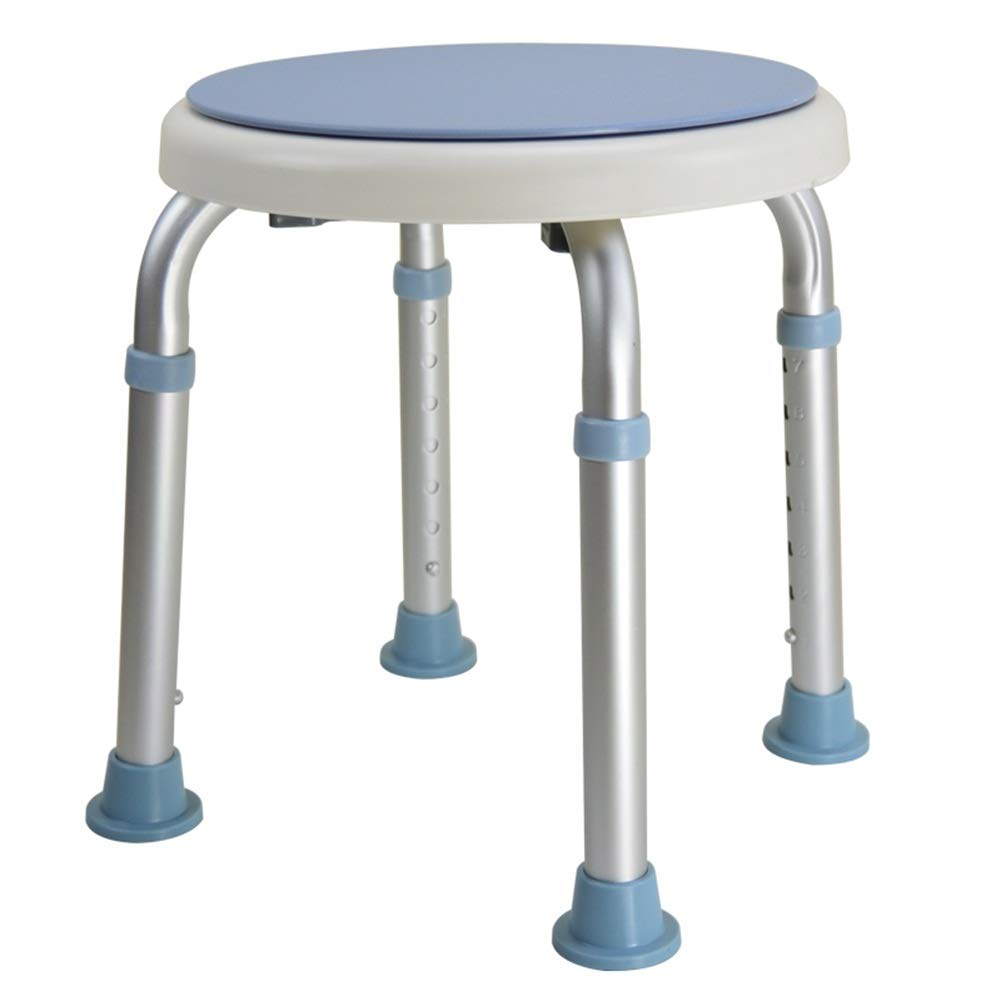 bluee 32.536.5-51.5cm ZHAOYONGLI Stool Drive redating Rounded Bath Shower Stool with Swivel Seat Thicken Plastic Stool Small Round Non-Slip Bench Creative Solid Durable Long Lasting