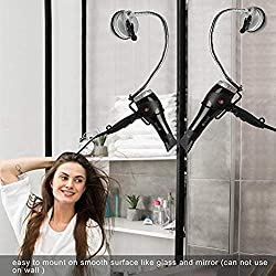 Desktop Hair Dryer Stand Holder, Hands Free Stainless 360 Degrees Rotation Hairdryer Holder with Suction Cup