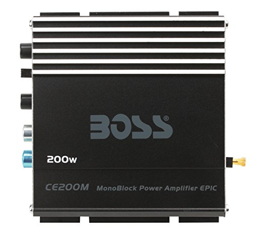 BOSS Audio CE200M Chaos Epic 200 Watt, Monoblock, 4 Ohm Stable Class A/B, MOSFET Car Amplifier ()