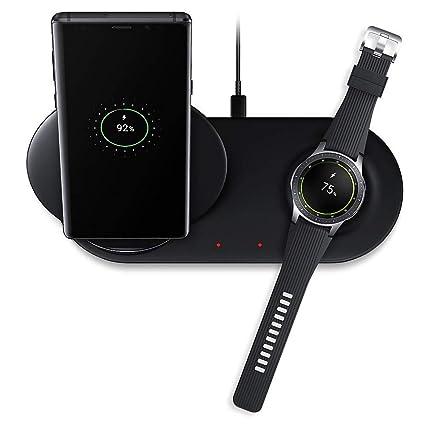 Bibao - Cargador inalámbrico 2 en 1 para Samsung Galaxy Note 8 Note 9 S9/S8/Samsung Galaxy Watch