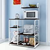 Kitchen Shelves Floor Multi-storey Home Storage Storage Microwave Shelf Shelf Seasonings Oven Rack LH: 90118cm ( Color : Black walnut color )