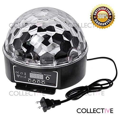 [COLLECTIVE Stage Lighting Digital LED RGB Crystal Magic Ball Disco DJ Effect Light] (Fan Costumes)
