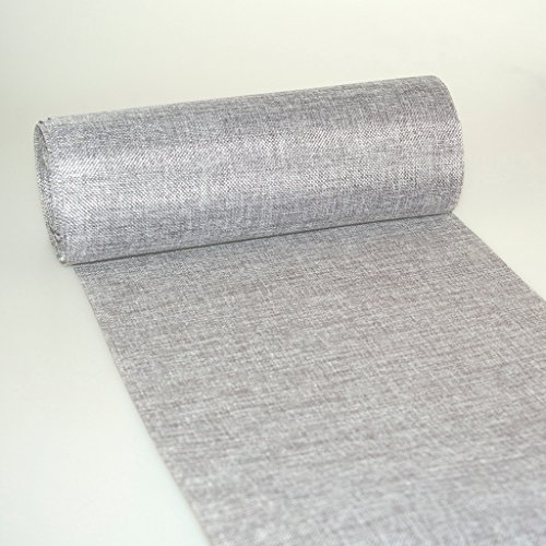 Shabby Chic table runner - Linen look table runner - col.23 - grey - 12 by 72, 90, 96, 108. - inch - 69-300-5-23