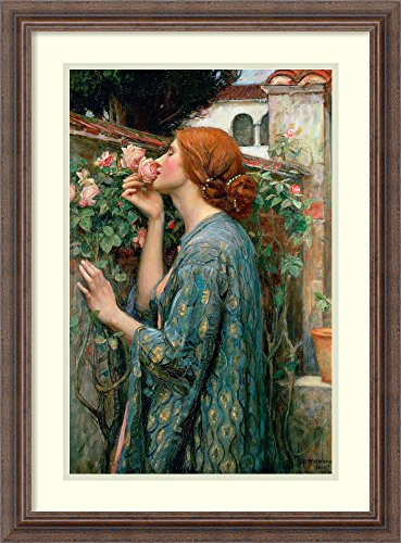 - Framed Wall Art Print   Home Wall Decor Art Prints   The Soul of The Rose, 1908 by John William Waterhouse   Rustic Decor