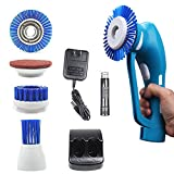 bathroom sonic power scrubber - Power Scrubber, Household Spin Scrubber, Handheld Cordless Tile Scrubber for Bathroom and Kitchen with Rechargeable Battery, 1 Battery 3 Brushes &1 Scouring Pad