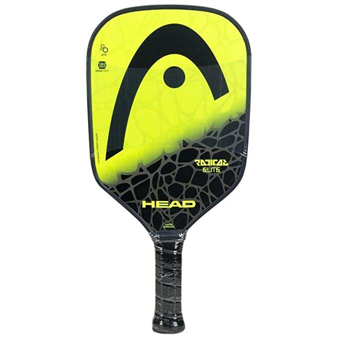 Amazon.com : HEAD Radical Elite Composite Black/Lime Pickleball Paddle Starter Kit or Set Bundled with a Black/Neon Yellow Elite Pickleball Backpack ...