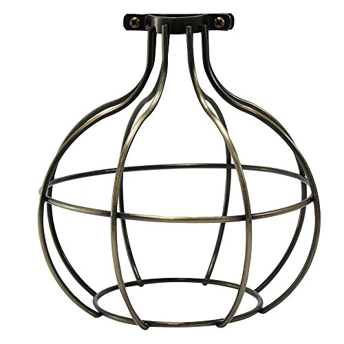 iLightingSupply 37-0116-30 Premium Clamp-On Bulb Cage - Open Style - Polished Brass, Antique