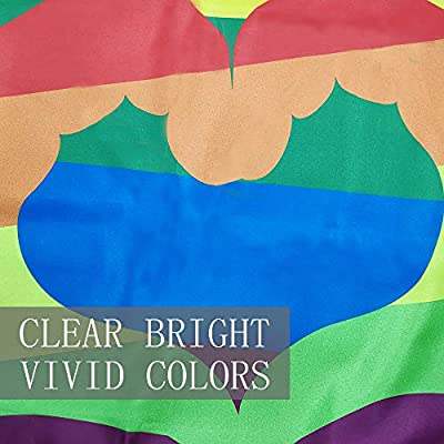 Bonsai Tree Gay Pride Flag 3x5 Ft Vivid Color And Double Stitched Large Double Sided Polyester Rainbow Flags With Brass Grommets For Indoor Outdoor Decoration
