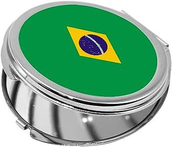 Brazil Printed Pocket Circular Mirror