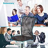 BestOffice Home Office Chair Desk Ergonomic Computer Executive Modern Student Task Adjustable Swivel High Back Wide Cheap Comfortable Mesh Stool with Metal Base for Man Women, Black