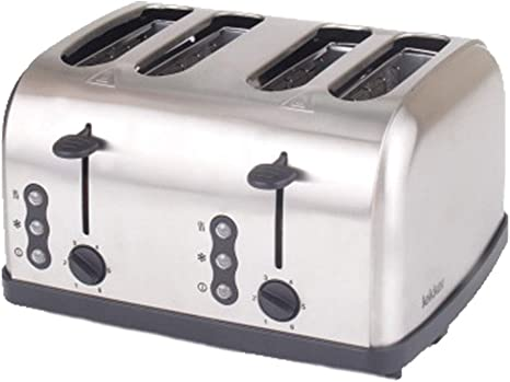 Opinión sobre smzzz Health Household 4-Slot Toaster Intelligent Household Stainless Steel Hightemperature Toaster with Heating Cancel and Defrosting Function 1500W