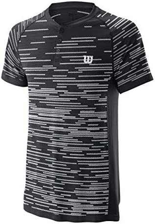 Wilson M Competition Seamless Henley Polo Black: Amazon.es: Ropa y ...
