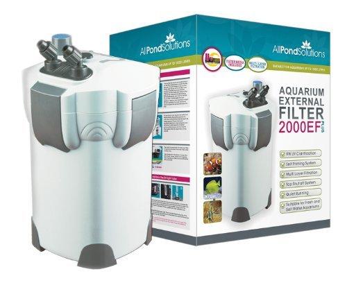 All Pond Solutions Aquarium External Fish Tank Filter 2000L/H Plus 9W UV...