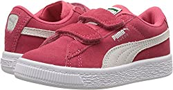 Puma Unisex-kids Suede Classic Velcro Kids 36507504 Sneaker, Paradise Pink White, 12.5 M Us Little Kid