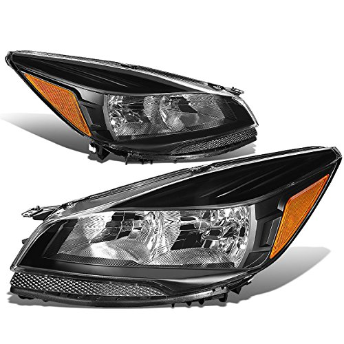 For Ford Escape Third Gen Pair of Headlight Black Housing Amber Corner Lamps