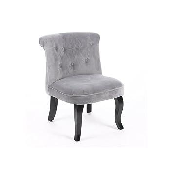 Amazonde Kleiner Sessel Velours Optik Grau