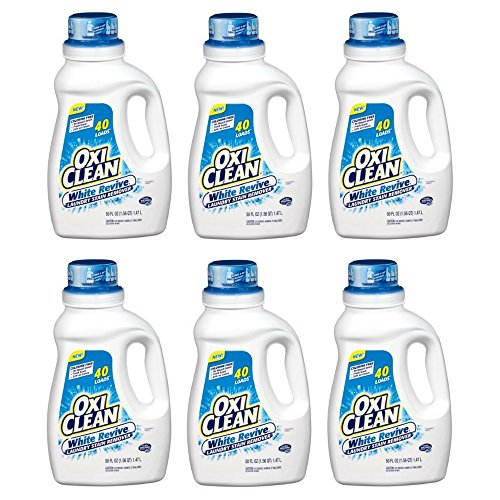 OxiClean White Revive Laundry Stain Remover, 50 fl oz (pack of 6) by OxiClean