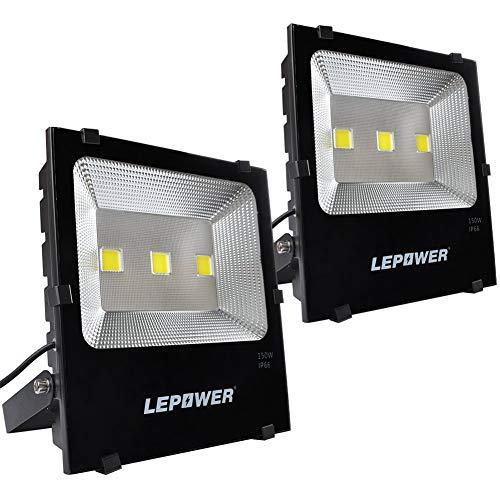 100w Craft Led Flood Lights Super Bright Work Lights: LEPOWER 2 Pack 150W New Craft LED Flood Light, Super