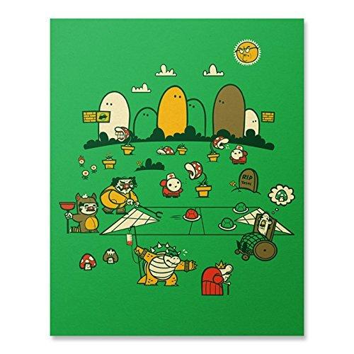 Amazoncom Mario Bros Print Super Mario Wall Art Video Game