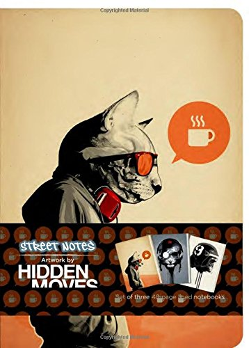 Street Notes Artwork By Hidden Moves (large): Set Of Three 48 Page Large Notebooks