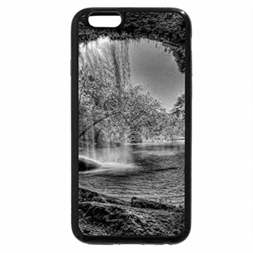 iPhone 6S Plus Case, iPhone 6 Plus Case (Black & White) - Fantastic Waterfall