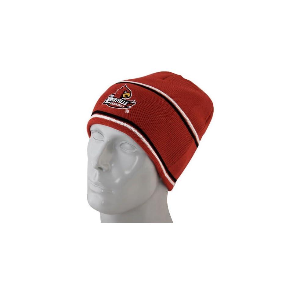 Louisville Cardinals Red Bleachers Knit Beanie