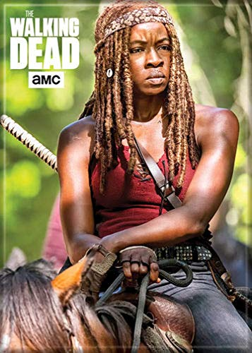 """Ata-Boy The Walking Dead Michonne on Horse 2.5"""" x 3.5"""" Magnet for Refrigerators and Lockers"""