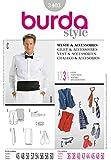 Patron de couture Burda Homme 3403–Gilet, nœud papillon et accessoires Tailles: 36–50