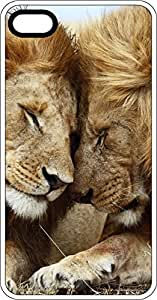 Lion & Lioness Snuggling Clear Plastic Case for Apple iPhone 4 or iPhone 4s