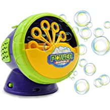 Termichy Automatic Bubble Machine with High Output, Battery Powered Bubble Blower for Indoor/Outdoor Use - Kid's Fun by (Purple)