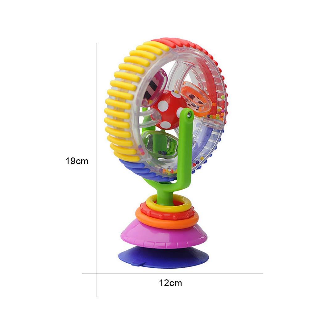 Beito 1pc color/é Rotation Grande Roue Moulin /à Vent Table /à Manger Panier Sucker Toy pour Les Enfants