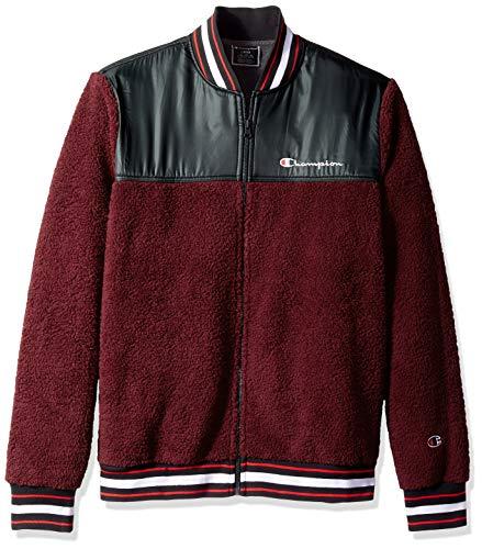 Champion LIFE Men's Sherpa Baseball Jacket, Mulled