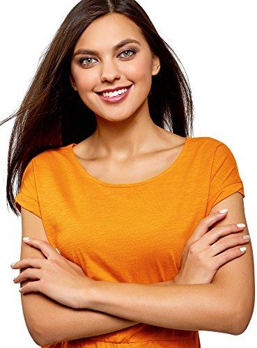 oodji Maglia 5500n in Elastico con Ultra in Abito Arancione Vita Donna wwCU7q6