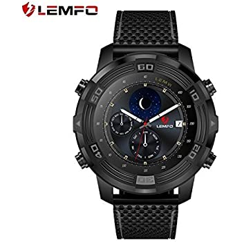LEMFO LEM6 Smart Watch, Lemfo LEM 6 Compass Waterproof Android 5.1 3G Smartwatch Phone MTK6580AX with Heart Rate Monitor WIFI GPS Tracker IP67 550mAh ...