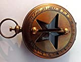 MAH Handmade 2'' Maritime Pocket Push Button Sundial Compass. C-3008