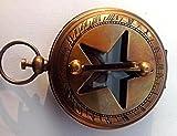 MARINE ART HANDICRAFTS Handmade 2'' Maritime Pocket Push Button Sundial Compass. C-3008